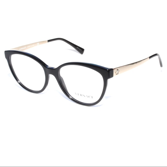 68836f891795 Versace Accessories - Versace Eyeglasses 3237 GB1 54 17 Black Gold